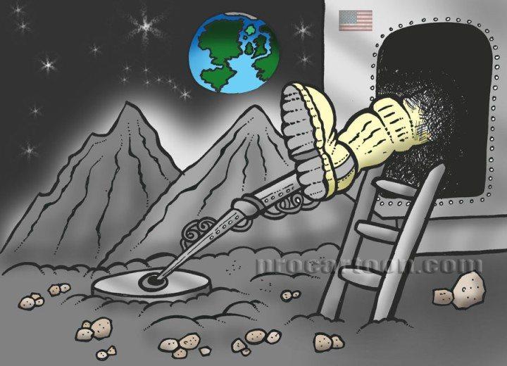 appollo11 first man on the moon cartoon