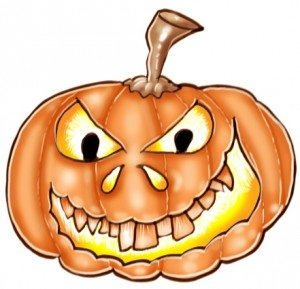 halloween pumpkin design cartoon