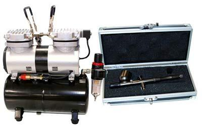 BADGER-Renegade-Velocity---R1V-Set-Airbrushing-System-with-AirBrush-Depot-TC-20-Tankless-Air-Compressor-&-6-ft-hose-Kit