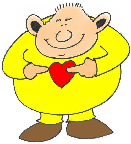 Man looking after heart