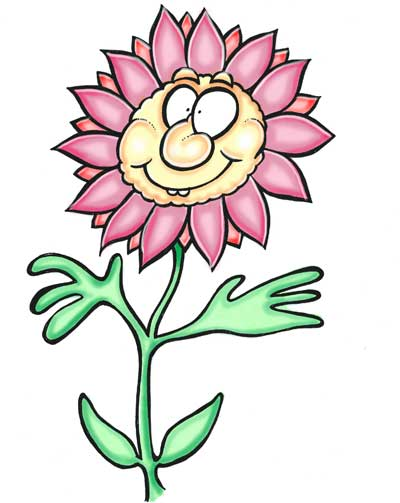 Cartoon flower pink petals