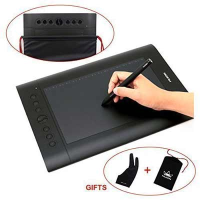 huion-h610-pro-graphic-drawing-tablet-with-carrying-bag-and-glove