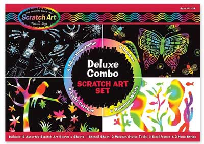 melissa doug deluxe combo scratch art set