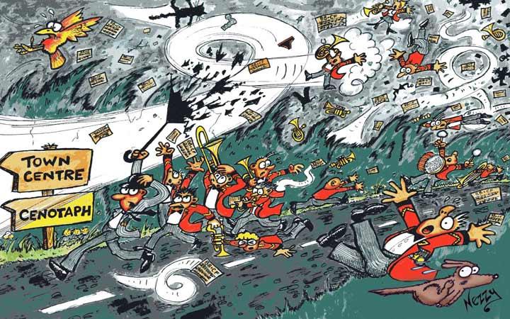 creative journal ideas music in the air cartoon elgar