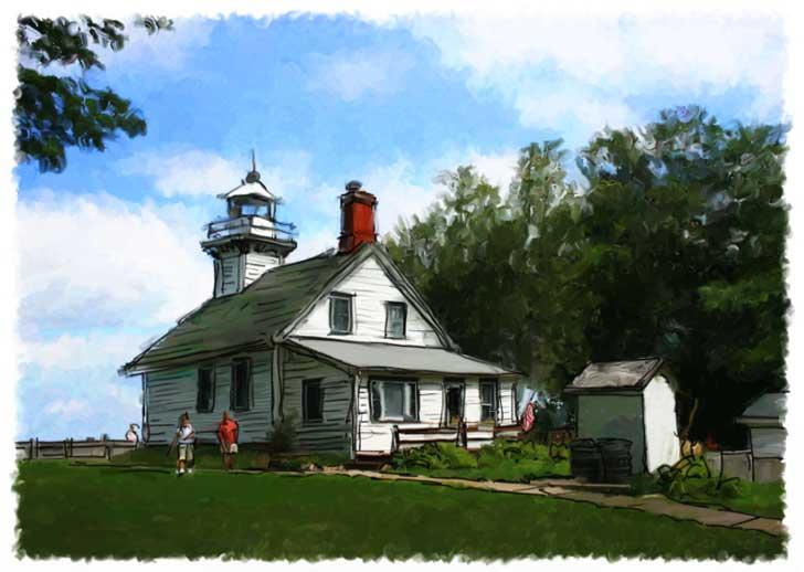 old mission lighthouse john leben digital artist