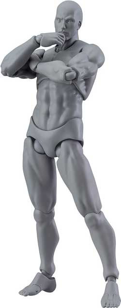 male action figure anatomical tool for artists