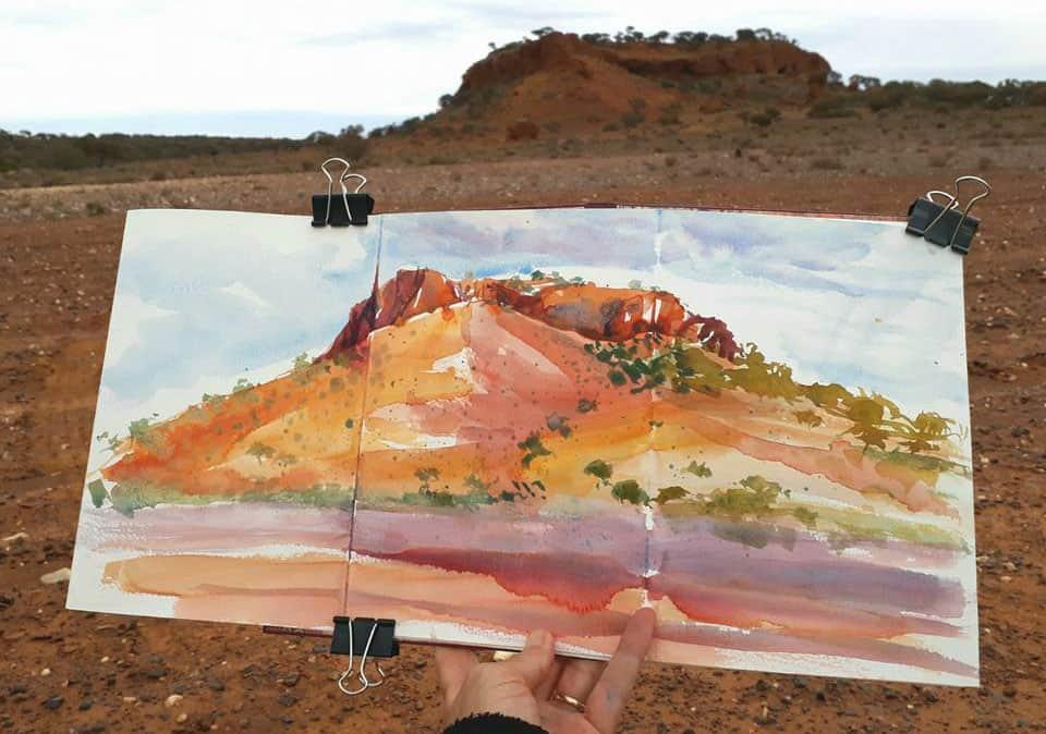 REFILLABLE LEATHER JOURNAL LYNNE CHAPMAN URBAN ARTIST IN AUSTRALIE