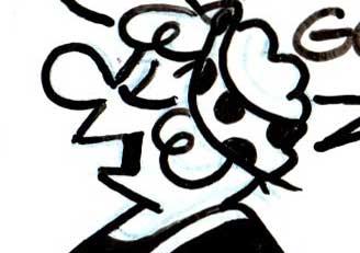 Reg Smyth Andy capp cartoon flo close up