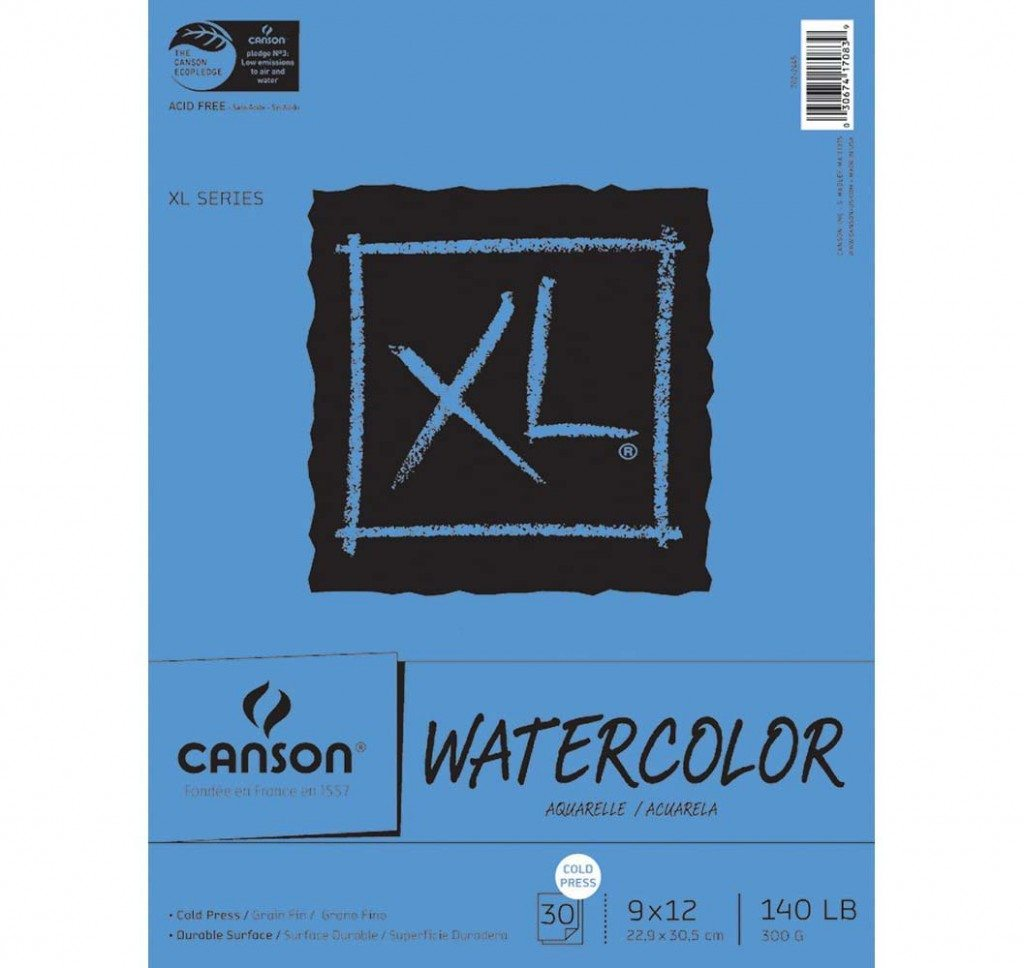 Canson watercolour 9 x 12 pads 300gsm
