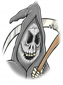 Halloween Grim Reaper cartoon