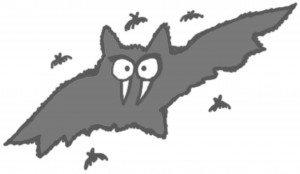 scarey halloween vampire bats