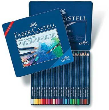 faber castell and derwent water color pencils