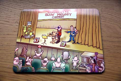 Place-mat---Brass-band--blind-dog-design