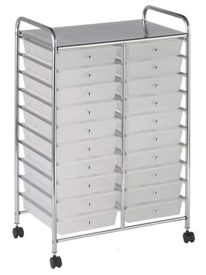 ECR4-KIDS-20-drawer-mobile-organizer-white