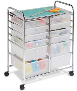 Best art and craft storage carts on wheels
