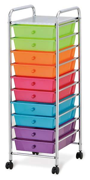 seville-10-drawer-rolling-cart-multicolor