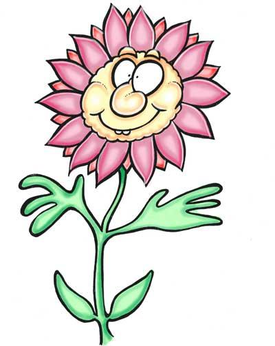 Cartoon flower pink petals