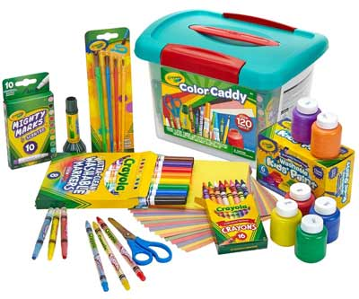 gifts for young artists crayola color caddy