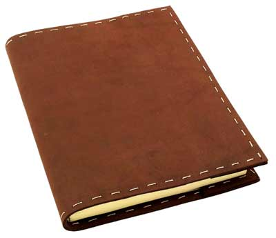 rustic refillable leather bound sketchbook