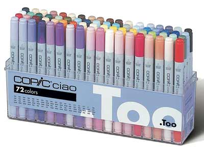 copic premium artist markers 72 color set