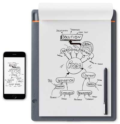 wacom bamboo slate smartpad digital writing sketching