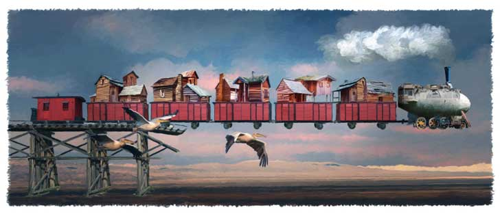 blimp train john leben digital artist