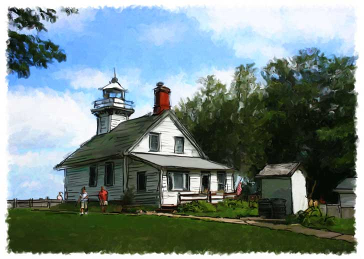 old mission lighthouse john leben digital artist