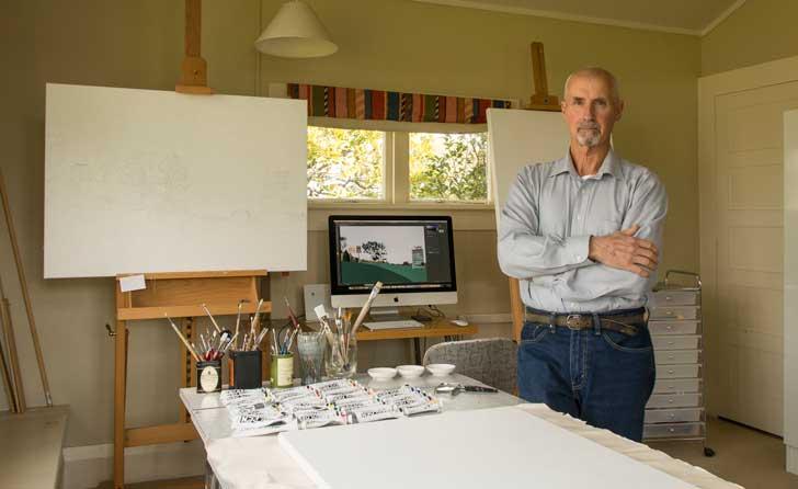 lester blair at his art studio