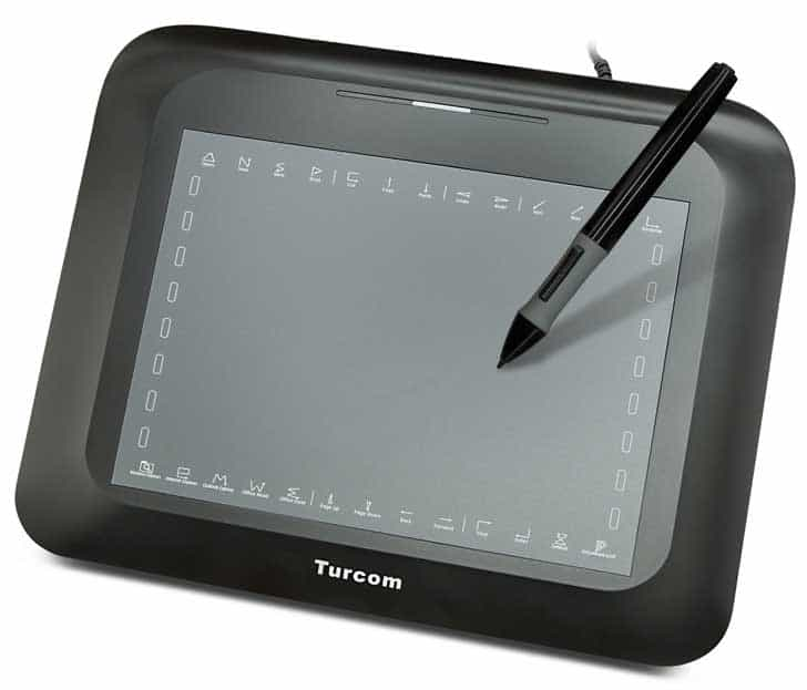 "Turcom 8"" x 6"" art graphics drawing tablet"