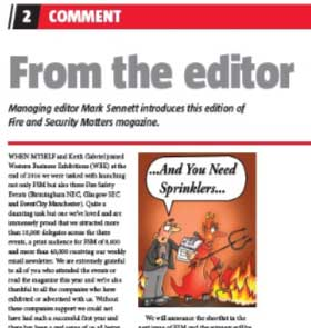 Rob Nesbitt cartoonist of fire and security matters magazine