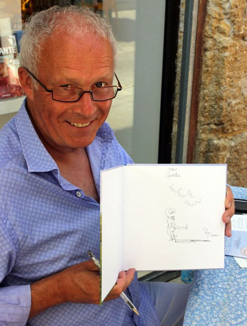 Perry taylor at a book signing in Gascony