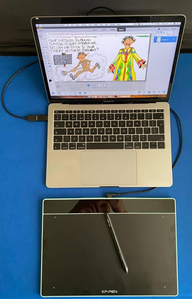 xp pen deco fun tablet with mac book pro